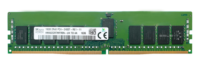 Pamięć RAM 1x 16GB Hynix ECC REGISTERED DDR4  2400MHz PC4-19200 RDIMM | HMA82GR7MFR8N-UH